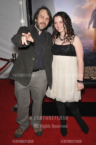 "Director Peter Jackson & daughter Katie at the Los Angeles premier of his new movie ""The Lovely Bones"" at Grauman's Chinese Theatre, Hollywood..December 7, 2009  Los Angeles, CA.Picture: Paul Smith / Featureflash"
