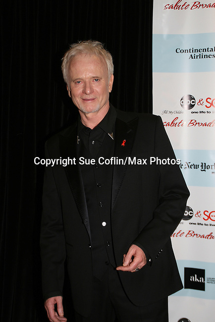 "General Hospital's Anthony Geary ""Luke"" attends the after party of ABC and SOAPnet's Salutes to Broadway Cares/Equity Fights Aids on March 9, 2009 at the New York Marriott Marquis, New York, NY.  (Photo by Sue Coflin/Max Photos)"