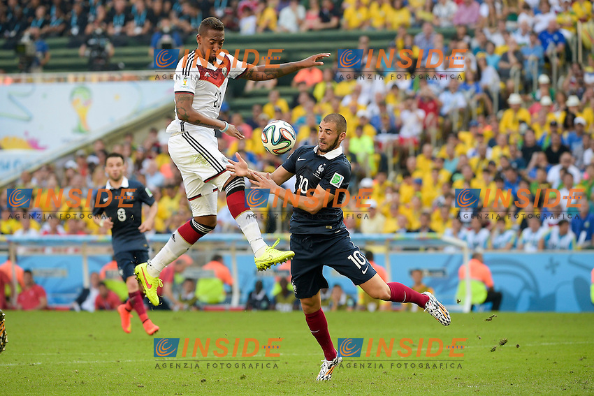Karim Benzema (Fra) vs Jerome BOATENG (Ger)<br /> Rio de Janeiro (Brasile) 04-07-2014 Maracana Quarter-Finals / Quarti di finale France - Germany / Francia - Germania. Football 2014 Fifa World Cup Brazil - Campionato del Mondo di Calcio  Brasile 2014 <br /> Foto Fotoarena/Panoramic/Insidefoto