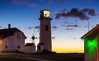 Lighthouse at dawn, Chatham Light, Chatham, Cape Cod, Massachusetts, USA