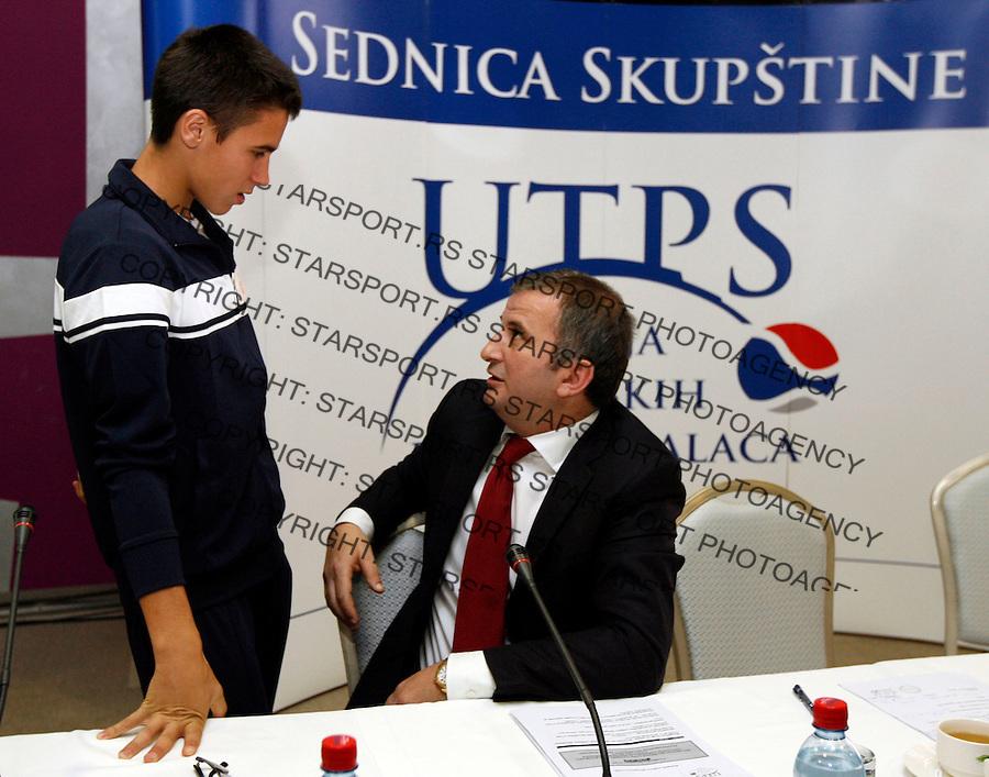 Tenis, UTPS.Udrizenje teniskih profesionalaca Srbije.Djordje Djokovic and Goran Djokovic.Beograd, 20.05.2011..foto: Srdjan Stevanovic
