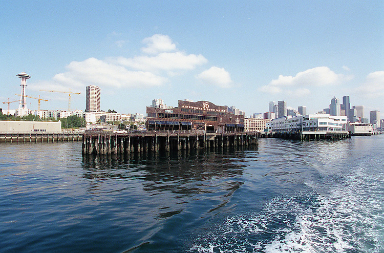 8-26-98.SEATTLE WASHINGTON-The historic Seattle waterfront with pier 70 in the foreground, from Elliott Bay and the Seattle Harbor. .CONGRESSIONAL QUARTERLY PHOTO BY DOUGLAS GRAHAM