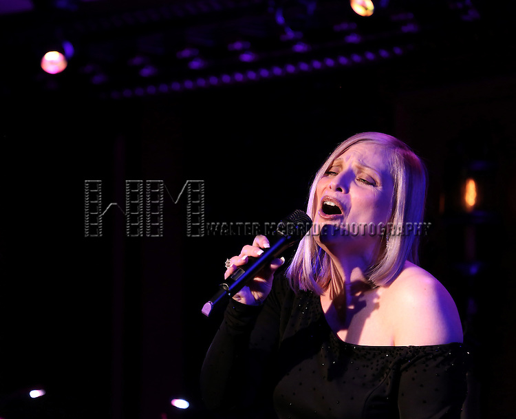 "Roslyn Kind performing her new show ""It's Been a While""  at 54 Below on April 6, 2014 in New York City."