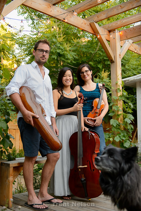 Trent Nelson  |  The Salt Lake Tribune<br /> Intermezzo musicians Claude Halter, Anne Lee, Karen Wyatt, Wednesday June 24, 2015 in Salt Lake City.
