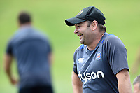 Bath Rugby first team coach Darren Edwards looks on. Bath Rugby pre-season skills training on June 22, 2017 at Farleigh House in Bath, England. Photo by: Patrick Khachfe / Onside Images