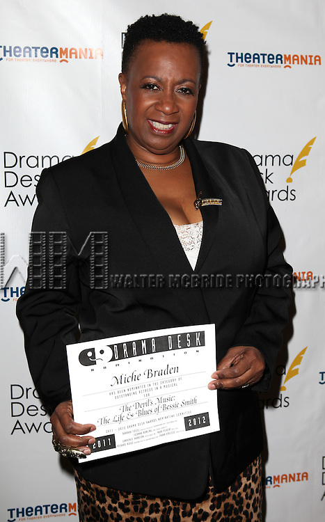 Miche Braden.attending the 57th Annual Drama Desk Nominees Reception at Oceana Restaurant in New York City on 5/8/2012. © Walter McBride/WM Photography .
