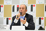 Fernando Aguerre, <br /> AUGUST 7, 2015 : <br /> International Surfing Association (ISA) <br /> holds a media conference following its interview <br /> with the Tokyo 2020 Organising Committee in Tokyo Japan. <br /> (Photo by YUTAKA/AFLO SPORT)