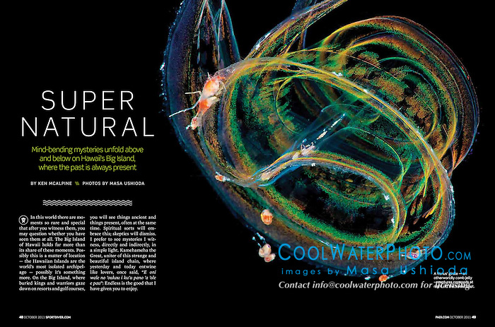 Sport Diver Magazine, October 2011, Big Island of Hawaii feature - assignment, USA, Image ID: