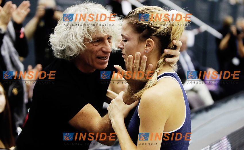 LINZ,AUSTRIA,14.OCT.18 - TENNIS - WTA Tour, Upper Austria Ladies Linz. Image shows Sergio Giorgi and Camila Giorgi (ITA). Photo: GEPA pictures/ Matthias Hauer/Insidefoto