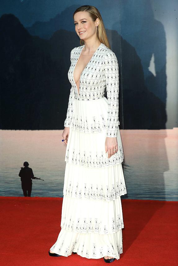 "Brie Larson<br /> arrives for the ""Kong: Skull Island"" premiere, Empire Leicester Square, London.<br /> <br /> <br /> ©Ash Knotek  D3235  28/02/2017"