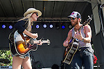 Holly Williams and husband Chris Coleman perform at the Austin City Limits Music Festival in Austin, Texas.
