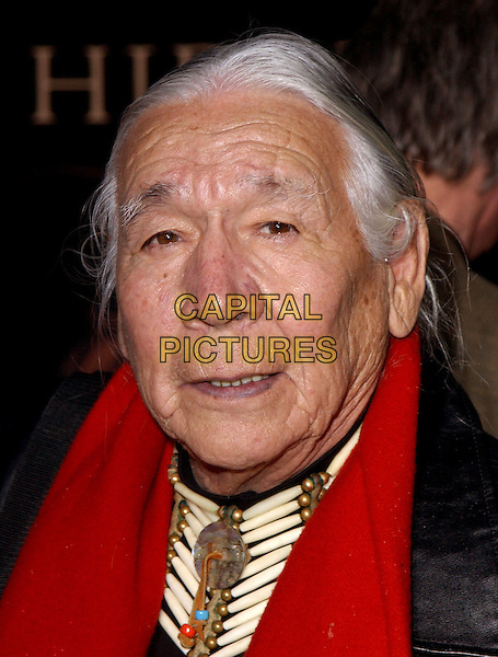 "FLOYD ""RED CROW"" WESTERMAN.The World Premiere of Hidalgo held at The El Capitan Theatre in Hollywood, California .01 March 2004.*UK Sales Only*.portrait, headshot.www.capitalpictures.com.sales@capitalpictures.com.©Capital Pictures."