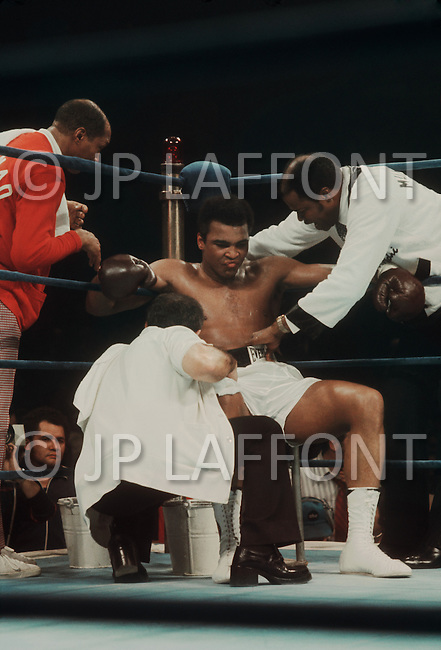 Jan 23, 1974, Madison Square Garden, NY. The revenge match between Muhammad Ali and Joe Frazier. Ali won this match.