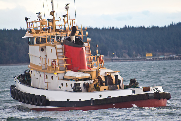 Port Townsend, Boyer Towing, tugboat Norma H, Port of Port Townsend, leaving shipyard,  Jefferson County, Olympic Peninsula, Washington State, Pacific Northwest, USA,