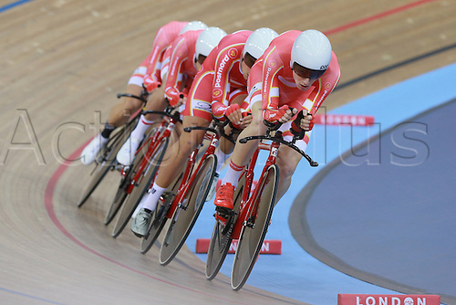 03.03.2016. Lee Valley Velo Centre, Lonodn England. UCI Track Cycling World Championships Mens Team Pursuit.  Team Denmark<br />