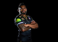Niko Matawalu poses for a portrait in the 2015/16 European kit during a Bath Rugby photocall on December 1, 2015 at Farleigh House in Bath, England. Photo by: Patrick Khachfe / Onside Images