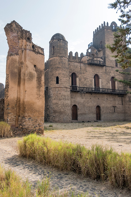 The Royal Enclosure (Fasil Ghebbi), located in Gondar, contains six castles from the 17th century.