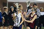 Santa Barbara, CA 02/18/12 - Maggie  Stankaitis (Pittsburg #10) and Emma Randall (Santa Clara #21) in action during the Pittsburg vs Santa Clara matchup at the 2012 Santa Barbara Shootout.  Santa Clara defeated Pittsburg 12-9.