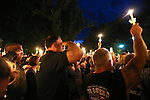 Hundreds of people attend a candlelight vigil in Carson City, Nev., on Saturday, Aug. 15, 2015 after a Carson City Sheriff's deputy was killed in the line of duty early Saturday morning after responding to a domestic violence call. <br /> Photo by Cathleen Allison