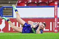 Picture by Alex Whitehead/SWpix.com - 08/02/2018 - Rugby League - Betfred Super League - Huddersfield Giants v Warrington Wolves - John Smith's Stadium, Huddersfield, England -  Warrington's Tom Lineham scores a try.