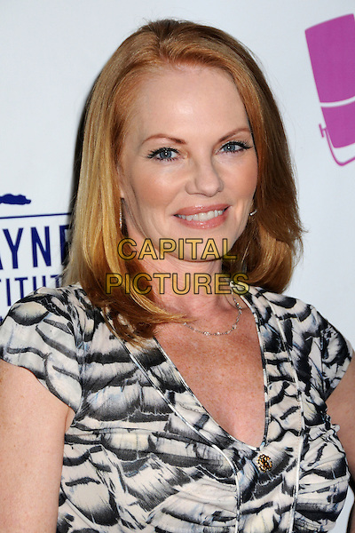 MARG HELGENBERGER.'What A Pair! 7' Celebrity Concert to Benefit the John Wayne Cancer Institute held at The Broad Stage, Santa Monica, CA, USA..September 26th, 2009.headshot portrait white black cream beige pattern .CAP/ADM/BP.©Byron Purvis/AdMedia/Capital Pictures.