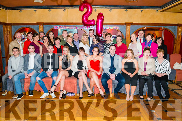 Lisa Fleming from Kilcummin celebrated her 21st birthday surrounded by friends and family in the Avenue Hotel, Killarney last Saturday night.