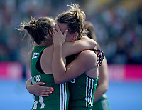 Ireland's Megan Frazer emotional after her team getting into the final <br /> Photographer Hannah Fountain/CameraSport<br /> <br /> Vitality Hockey Women's World Cup - Ireland v Spain - Saturday 4th August 2018 - Lee Valley Hockey and Tennis Centre - Stratford<br /> <br /> World Copyright &copy; 2018 CameraSport. All rights reserved. 43 Linden Ave. Countesthorpe. Leicester. England. LE8 5PG - Tel: +44 (0) 116 277 4147 - admin@camerasport.com - www.camerasport.com