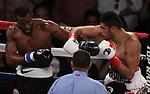 Giberto 'Zurdo' Ramírez t derro en 12 asaltos a Jesse Hart y revalidar así su condición de campeón mundial de la división súper medio de la Organización Mundial de Boxeo (OMB).
