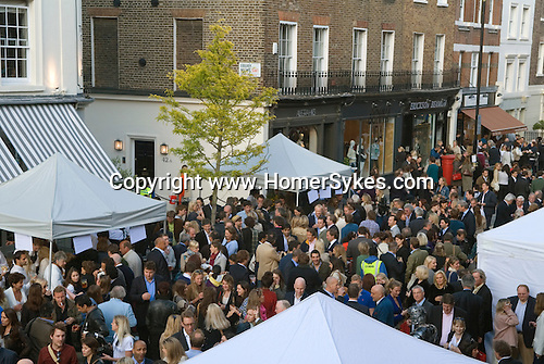 Elizabeth Street summer Street Party Chelsea and Kensington Belgravia London SW1 UK