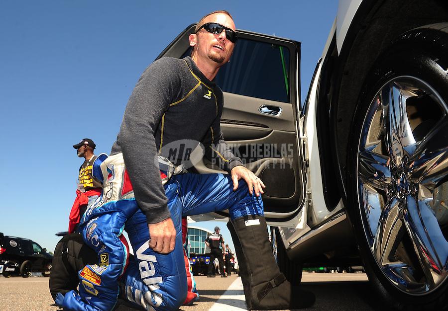Mar. 13, 2011; Gainesville, FL, USA; NHRA funny car driver Jack Beckman during the Gatornationals at Gainesville Raceway. Mandatory Credit: Mark J. Rebilas-