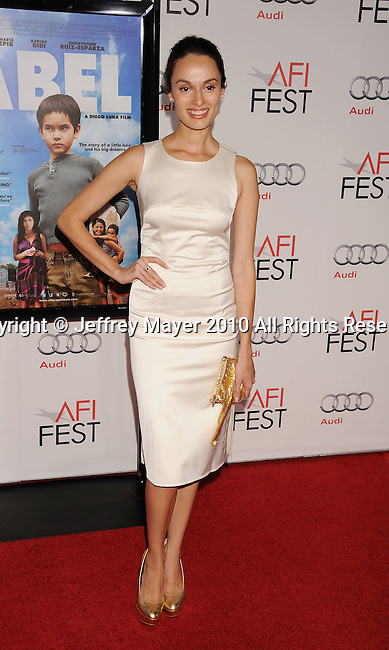 "HOLLYWOOD, CA. - November 07: Berenice Noriega arrives to the AFI Fest 2010 Screening Of ""Abel"" at Grauman's Chinese Theatre on November 7, 2010 in Hollywood, California."