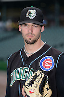 Kane County Cougars pitcher Tyler Skulina (28) poses for a photo before a game against the Peoria Chiefs on June 2, 2014 at Dozer Park in Peoria, Illinois.  Peoria defeated Kane County 5-3.  (Mike Janes/Four Seam Images)