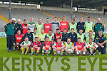 John Kennedy, manager of.the Kerry Minor Team gathers.his squad together for.the final training sessions.before meeting Cork in.Fitzgerald Stadium, Killarney.on Sunday.