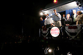 Sedalia, Missouri.USA.August 5, 2004..Sen. John Kerry and Sen. John Edwards accompanied by their wives begin a whistle stop train tour of the USA...