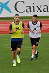 Sergi Busquets and Dani Ceballos during the Trainee Session at Ciudad del Futbol in Las Rozas, Spain. September 02, 2019. (ALTERPHOTOS/A. Perez Meca)
