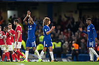 Charly Musonda of Chelsea applauds the support after  the Carabao Cup (Football League cup) 23rd round match between Chelsea and Nottingham Forest at Stamford Bridge, London, England on 20 September 2017. Photo by Andy Rowland.