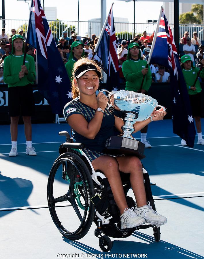 YUI KAMIJI (JPN)<br /> <br /> TENNIS , AUSTRALIAN OPEN,  MELBOURNE PARK, MELBOURNE, VICTORIA, AUSTRALIA, GRAND SLAM, HARD COURT, OUTDOOR, ITF, ATP, WTA<br /> <br /> &copy; TENNIS PHOTO NETWORK