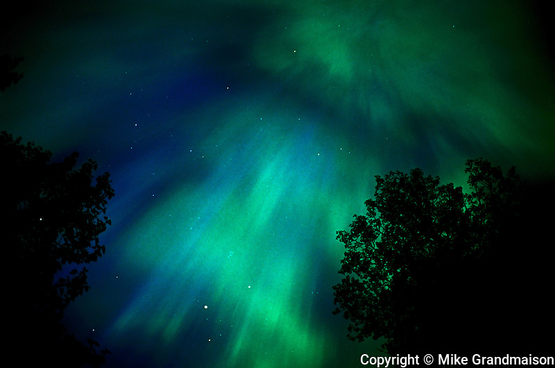Northern lights or aurora borealis <br /> Sudbury<br /> Ontario<br /> Canada