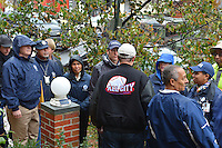 October 30, 2012  (Washington, DC)  D.C. Mayor Vincent Gray (c) speaks with FEMA officials as he toured the Bloomingdale neighborhood after Hurricane Sandy.  (Photo by Don Baxter/Media Images International)