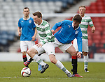 Celtic's Regan Hendry makes off with the ball