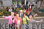 Members of the Tidy Tralee Together Commiteeif front Mairead Fernane, Mary O'Brien, Mayor Johnny Wall, Anne Connolly, Brendan O'Brien Wharton Slattery with volunteers and Tralee town council staff celebrate after Tralee won a gold medal in the national Tidy Towns Awards on Monday.