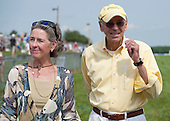 Lauren and Rene Woolcott, owners of Grand Pride, winner of the Delaware Park Hurdle.