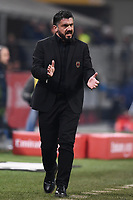 Gennaro Gattuso reacts during the Serie A 2018/2019 football match between AC Milan and SPAL at stadio Giuseppe Meazza in San Siro, Milano, December 29, 2018 <br /> Foto Image Sport / Insidefoto