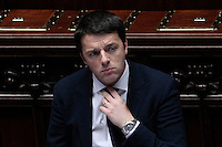Matteo Renzi<br /> Roma 25-02-2014 Camera. Voto di fiducia al nuovo Governo.<br /> Senate. Trust vote for the new Government.<br /> Photo Samantha Zucchi Insidefoto