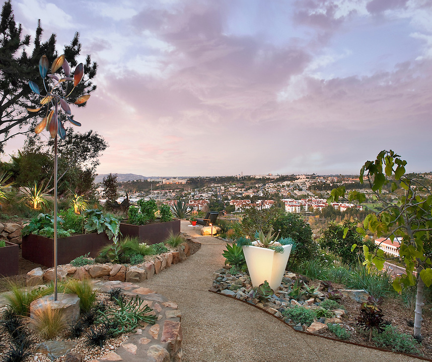 Christopher Ian Gustard, ASLA - Price residence garden and overlook - San Diego California