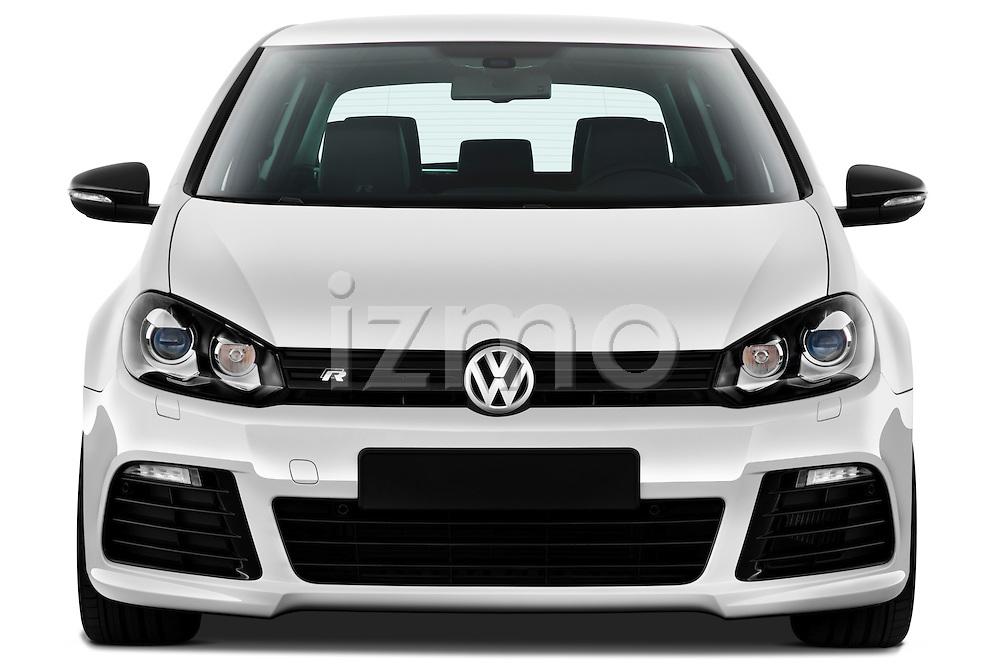 Straight front view of a 2011 Volkswagen Golf R 5 Door Hatchback Stock Photo