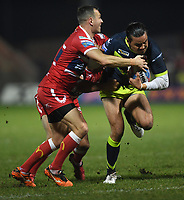 Picture by Anna Gowthorpe/SWpix.com - 02/02/2018 - Rugby League - Betfred Super League - Hull KR v Wakefield Trinity - KC Lightstream Stadium, Hull, England -  Wakefield Trinity's Justin Horo is tackled by Hull KR's Danny McGuire