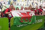 Team Wales members in support of Wales Gareth Evans Mens 69kg winning the Gold <br /> <br /> *This image must be credited to Ian Cook Sportingwales and can only be used in conjunction with this event only*<br /> <br /> 21st Commonwealth Games - Weightlifting -  Day 2 - 06\04\2018 - Carrara Sports Arena 1 - Gold Coast City - Australia