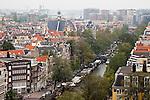 Blick von der Westerkerk auf die Prinsengracht und die Norderkerk