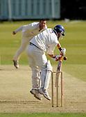 West of Scotland CC V Uddingston CC, Scottish National Cricket League, Premier Div, at Hamilton Cres, Glasgow - Uddy's Gavin Bradley rises to the ball - Picture by Donald MacLeod